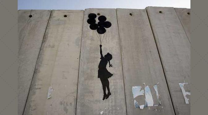 Banksy Petite fille aux ballons Bethleem